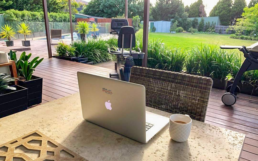 Don't quit your job. Change location.   The Deck Office   OfficeAnywhere