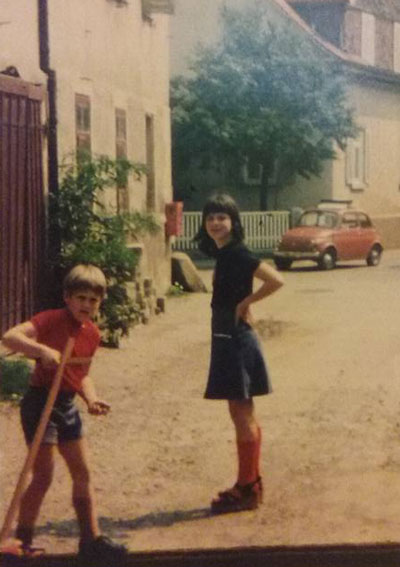 Me and my sister in Germany - 1978   Office Anywhere