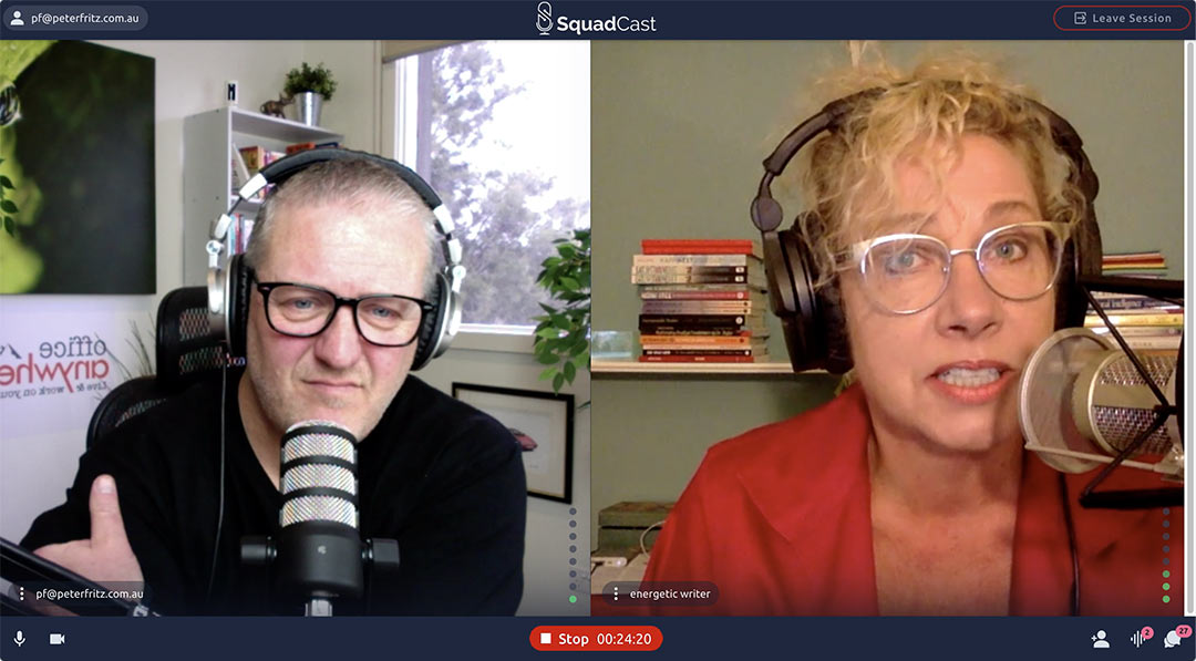 Mary Rogers and Peter Fritz on SquadCast | Office Anywhere